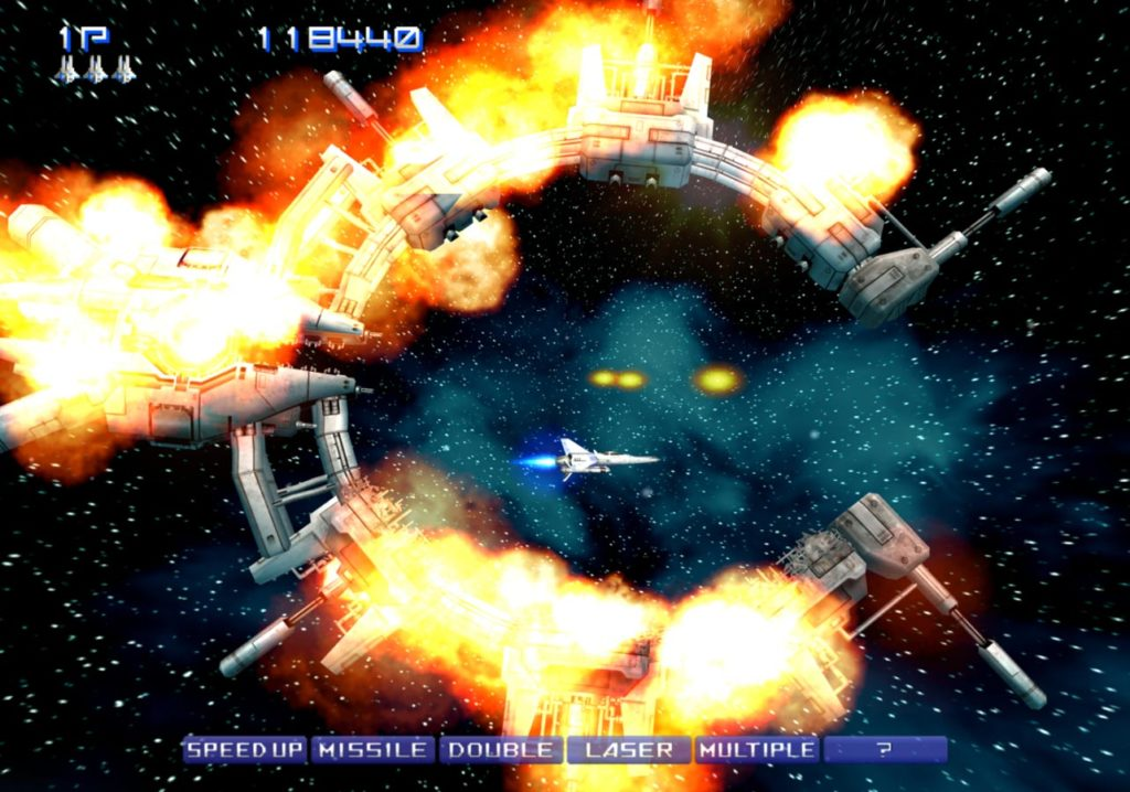 Best graphic configuration settings for Gradius V on PCSX2